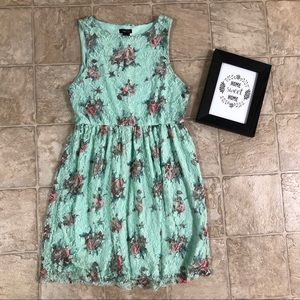 RUE21 Mint Floral Mini Dress